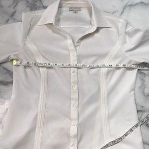 Dress Barn Tops - Winter white dress barn stretch button down